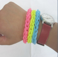 Charm Bracelets diy Silicone 2014 New rainbow loom Band Glow In Dark Rubber Band Bracelet (600 pcs bands + 24 pcs S-clips ) in each bag For Kids DIY Gift
