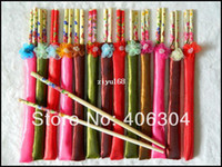 Wholesale Wood colorful Chinese flower chopsticks wedding gift wedding favors chopsticks