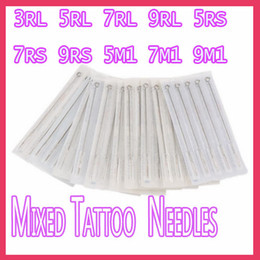 Wholesale 50pcs Disposable Sterile Tattoo Needles MIX Size RL RS M1