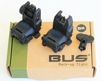 Wholesale 2014 GEN Back Up Front And Rear Folding Sights With Key BK MBUS