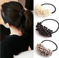 Wholesale New arrival designer brand hairwear for women fashion handmade beaded imitation pearl hairbands trendy hair jewelry