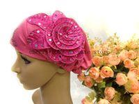 Wholesale 2014 new design little hat bead leaf muslim flower flowers scarf muslim hijab islamic hijab lady scarf