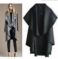 Cheap Free shipping 2013 autumn and winter women wool coat red cloak cape woolen overcoat woolen outerwear