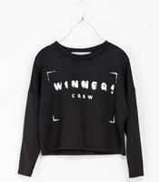 Women Alpaca Twinset sweaters free shipping 2014 2014 Women fashion Winner crew letter print sport suit women plus size pullover sweat FT742