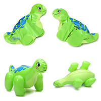 Unisex 0-12M Plastic Kawaii Lovely PVC Animal Inflatable Air-Filled Swimming Pool Shower Dinosaur Toys For Baby Children Kids Birthday Gift