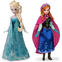 Wholesale Hot Sale Retail baby frozen princesses doll newest cute Anna Elsa inch baby doll action figures frozen dolls toys set Melee