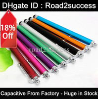 Wholesale Capacitive Metal Stylus Touch Pen for ipad iphone itouch playbook tablet pc Free DHL Fedex