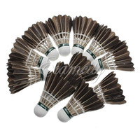 Wholesale New Training Black Goose Feather Shuttlecocks Birdies Durable Badminton Balls Play Game Sport