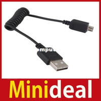 Wholesale MiniDeal New m USB Male to Micro USB B Pin Data Sync Charge Spring Cable Hot