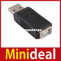 Wholesale MiniDeal USB Male to Printer Type B Female Adapter Convertor Hot