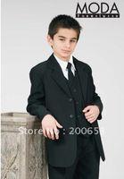 Reference Images Tuxedos Wool Blend 2014Custom-made Groom Tuxedos Kid Complete Designer Junior Boy Wedding Suit Boys' Attire (Jacket+Pants+Tie+Vest) A566