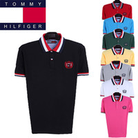 Men Cotton Polo 2014 Fashion Tomy Shirt Polo men's Short Clothing 100% Cotton Turn-Down Collar Tees M L XL XXL Free Shipping