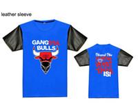 Wholesale bull short sleeve T shirts Summer hip hop clothing cotton t shirts shirt