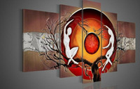 One Panel abstract figurative art - Figurative Oil painting hand painted oil wall art oil painting on canvasFI