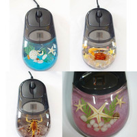 1000 amber insect - Hot Selling Computer Real Insect Wired Liquid Amber USB Mouse with Led Light