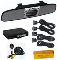 Wholesale Super Thin Car Rearview Mirror Parking Sensor with Built in quot TFT LCD Screen Rear Sensors Car Rearview Camera