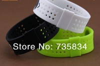 Bangle Unisex Silicone 100pcs lot 3 Colors (S,M,L,) Power Style Evolution Wristbands Energy Bracelets With Hologram Sport Health Bands