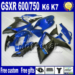Wholesale Low price fairing kit for SUZUKI Injection molding GSXR fairings K6 GSX R blue matte black body kits FG46