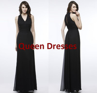 Model Pictures Ruched Sleeveless 2014 Black Maternity Bridesmaid Dresses Cheap Sexy V neck Sheath Chiffon Ruched Elegant Party Evening Gowns Maid of Honor Dresses