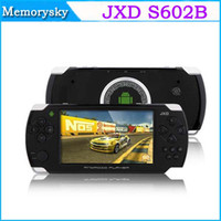 Wholesale Android inch Dual Core JXD S602B Portable Game console G Multi Language point capacitive touch screen MB DDR3 GB