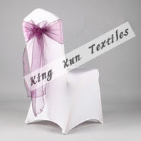 Wedding Organza Fabric many color Purple Organza Chair Sash Used For Wedding Spandex Chair Cover