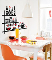 PVC decorative glass wine bottle - Saturday Mall exclusive sales bottle glass wine living room kitchen shelf wall stickers removable decorative paper decals