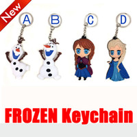 Wholesale 1404z Cartoon Movie Set Cute Elsa Anna Olaf Birthday gift PVC Silicone cm Frozen Keychain