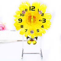 Wholesale free shinppingGuangzhou fashion watches floral gifts kg Cartoon plastic table clock clock