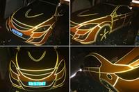 Wholesale 3M cm cm Car Motorcycle Body decoration garland luminous sticker reflective Warning strip stickers