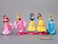 Finished Goods big ariel - 50sets Princess Dolls Snow White Cinderella Aurora Ariel Belle PVC Action Figures Toys Christmas Gifts Girls Toys SWFG014