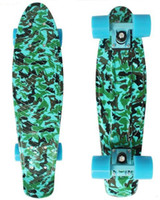 "Electric Skateboard 22inch Yes New 22"" Army blue Printed Penny Board Nickel Skateboard Cruiser Mini Skate Long board Complete Skating"