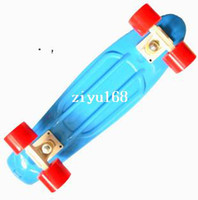 "Electric Skateboard 22inch Yes Free shipping Wholesale 22"" Penny Skate Long board Nickel Cruiser mini plastic skateboard 2013 version Blue-White-Red"