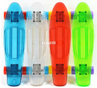 Wholesale Brand New inch Penny style PC transparent board skateboard mini cruiser longboard skates