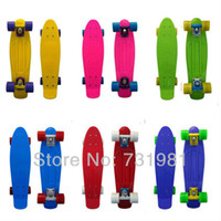 Wholesale DIY Color Penny Skateboard Complete inch Mini Cruiser Long Skate Board Good Plastic Longboard Banana Shape