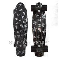 Wholesale DIY Color quot Printed penny skateboard Retro Cruiser old school mini longboard skate long board Complete