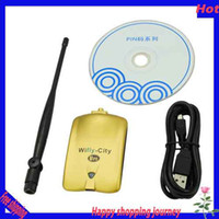 Stock Wireless Yes Free shipping 2013 Hot sale WIFLY-CITY IDU-2850UG-U20 Plus Wireless USB Adapter Network Adapter