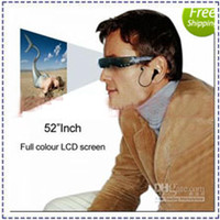 Wholesale New Cool GB Cinema Eyewear vision Video Glasses Ebook MP3 MP4 Eye Glasses Video Player Mobile Theatre