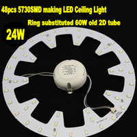 LED ceiling light - 2pcs high brightness smd LM warm white white W LED ring magnetic plate to replace W LED ceiling light ring of old D tube
