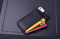 For Apple iPhone Leather White Newest Soft TPU back Case PU Leather Card Holder Wallet Style Mobile Phone bag Case for iPhone 4 4S iPhone 5 5S