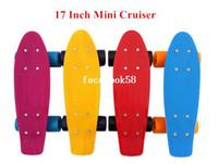 Long Board mini skateboard - 17Inch Kids Beginner skateboards Penny Style Retro Cruiser Mini Skateboard Plastic long board skate complete for children