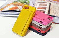 free sample mobile phone - Newest Soft TPU back Case PU Leather Card Holder Wallet Style Mobile Phone bag Case for iPhone S iPhone S Free DHL