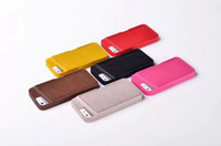 Wholesale Newest Soft TPU back Case PU Leather Card Holder Wallet Style Mobile Phone bag Case for iPhone S iPhone S Free Ship