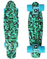 Wholesale New quot Army blue Printed Penny Board Nickel Skateboard Cruiser Mini Skate Long board Complete Skating