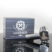 Single Silver Metal 510 thread retail box Metal Hammer E Pipe Mod Kit e cig Mechanical for CE4 CE5 Vivi Nova U-DCT Atomizer