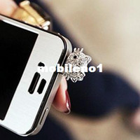 Earphone Jack Plugs 3.5mm iPhones/HTC/SUMSANG Min.order is $10(Mix order) Free Shipping Cell Phone Accessories Cute Cat Dust Plug DP103