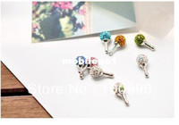 Earphone Jack Plugs 3.5mm silverplated plated Min.order is $15 (mix order) Free shipping. Diamond ball Anti Dust Crystal Earphone Jack Plug for Phone,cell phone accessories