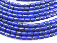 Wholesale AAA grade x8 x10mm inch genuine lapis lazuli plated rice egg barrel drum jewelry beads