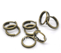 Wholesale Wholesales Mix MM MM MM MM Antique Bronze Plated Color Metal Open Split Jump Rings Jewelry Findings Accessories