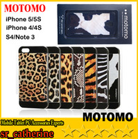 For Apple iPhone ABS+PC White 2014 new fashion Motomo Hard Case Back Cover For iPhone 4 4S 5 5S S4 NOTE 3 Leopard Tiger Zebra Print Design With beautiful retail packaging