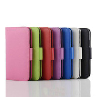 Wholesale Book Style Photo Frame Wallet Credit ID Card Horizontal Flip Leather Case For Samsung Galaxy s5 i9600